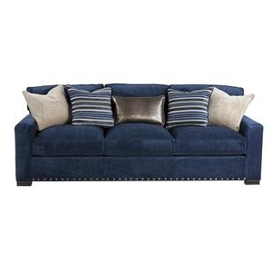 HM Richards 1852 Transitional Three Seater Sofa with Complementing Pillows