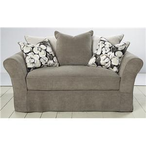 HM Richards 2320 Traditional Chair and a Half with Deep Back and Scatter Pillows
