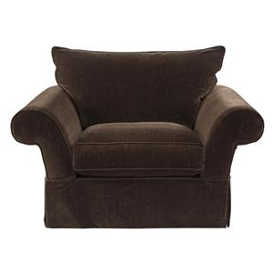 HM Richards 2670 HMR Traditional Skirted Chair with Rolled Arms
