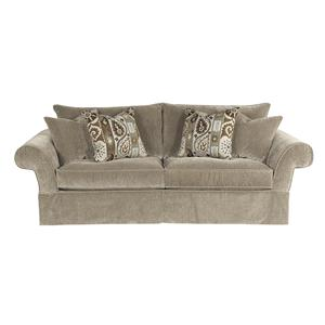 2670 HMR Traditional Two Seater Skirted Sofa with Rolled Arms by HM Richards