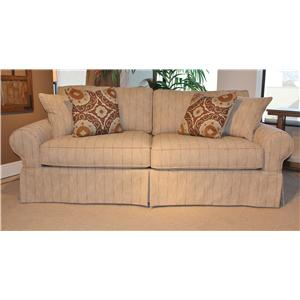 HM Richards 2875 Group Casual Stationary Sofa with Skirt and Sock Arms