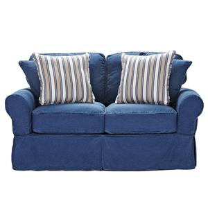 Beachside Casual Skirted Loveseat by HM Richards