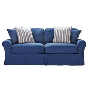 HM Richards Beachside Skirted Denim Sofa