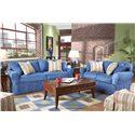 HM Richards Beachside Skirted Sleeper Sofa - Shown With Coordinating Loveseat
