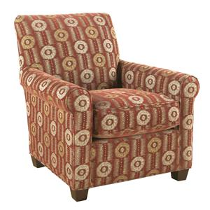 HM Richards Hayward Cinnamon Patterned Accent Chair