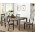 Hathaway Meyer Table + 4 Chairs - Item Number: 1126-4278L+4x315-S