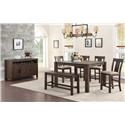 Hathaway Tyler 6 Pc. Dining Set - Item Number: Tyler 6 PC Counter Table Set