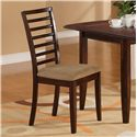 Holland House 1237 Dining Ladder Back Side Chair - 1237-313-S