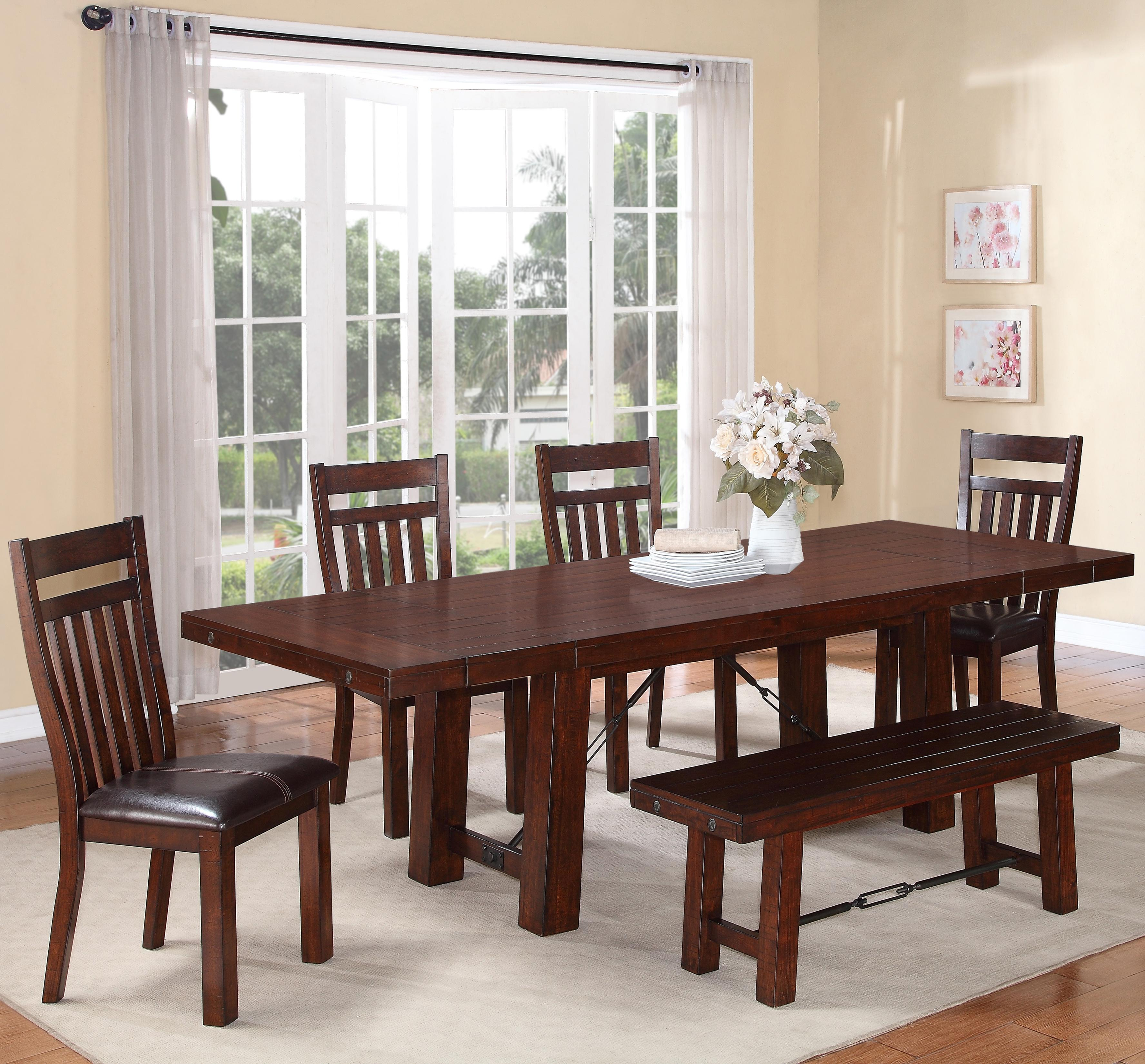 Charming Holland House 1258 6 Piece Dining Table Set