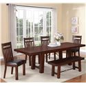 Holland House 1258 6 Piece Dining Set - Item Number: 1258-42102+MB+4x443-S+313-BEN