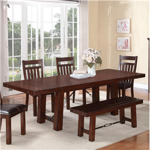 Holland House 1258 Trestle Dinner Table w/ Leaves