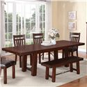 Holland House 1258 Trestle Dinner Table w/ Leaves - 1258-42102+MB