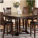 Holland House 1264 Dining Square Round Gathering Table with 1 Leaf