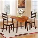 Holland House 1267 Dining 5 Piece Table and Side Chair Set - Item Number: 1267 5-PC