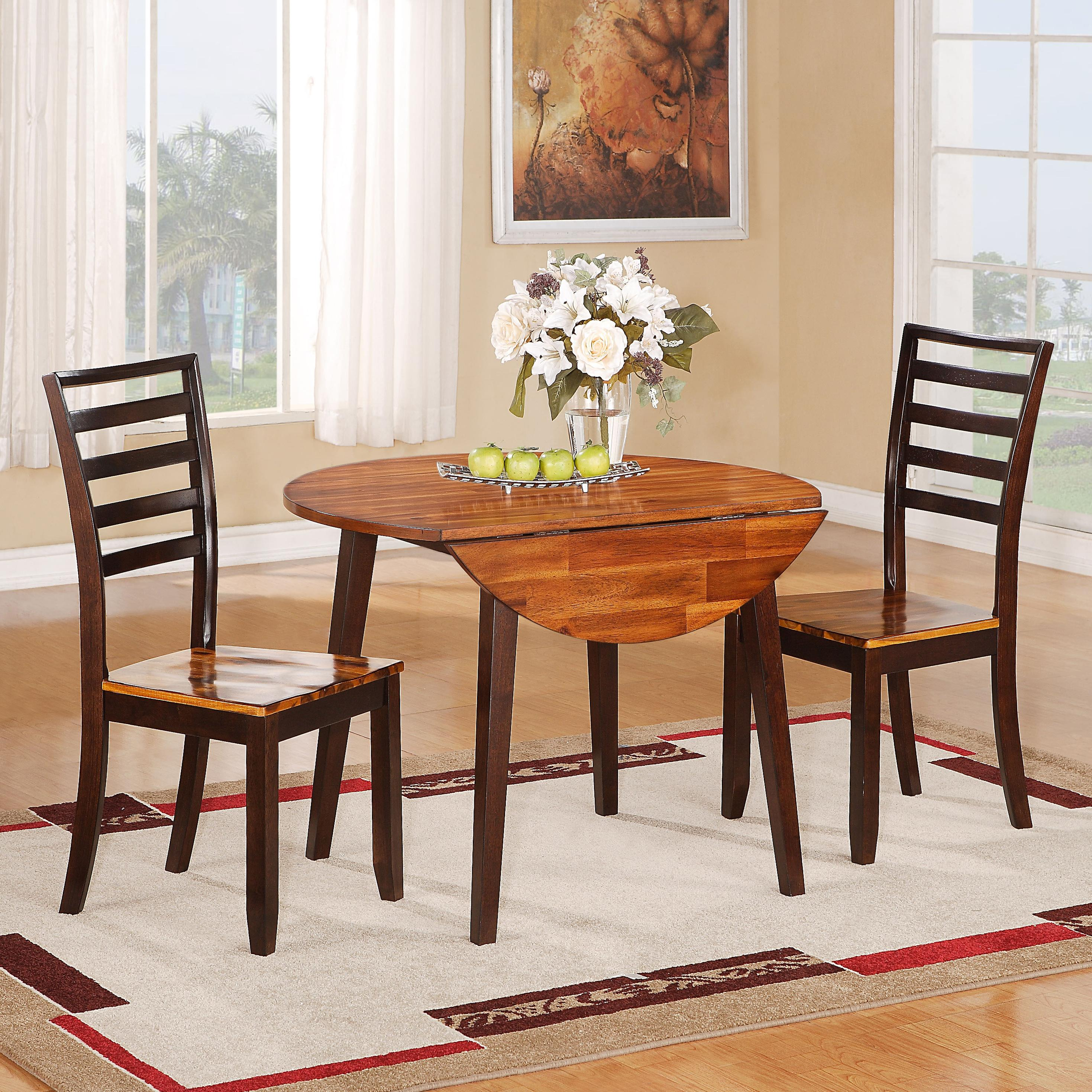 Holland House 1267 Dining 3 Piece Table and Side Chair Set - Item Number: 1267-RD4242+441-S