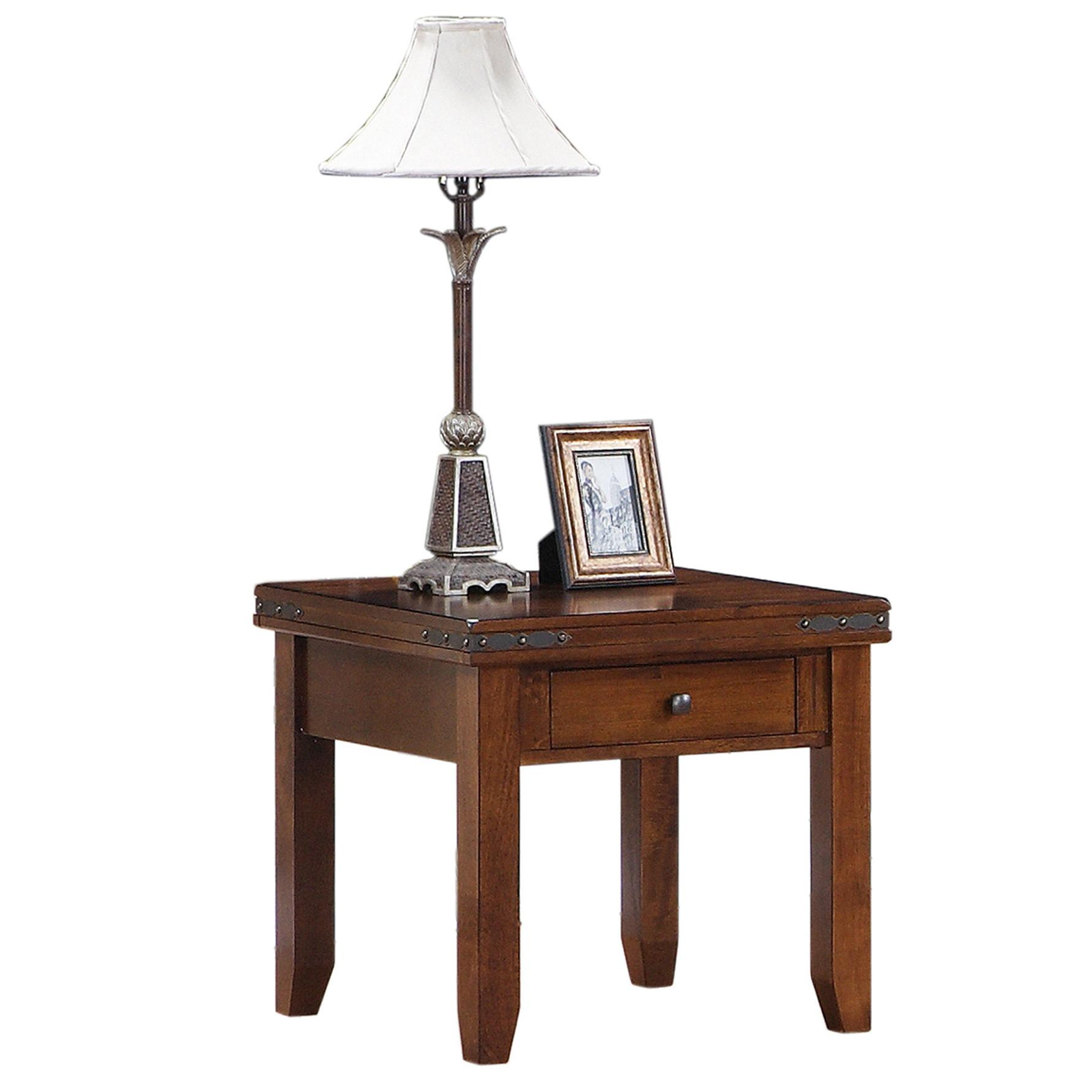 Morris Home Furnishings Coventry Coventry Square End Table - Item Number: 1268 End Table
