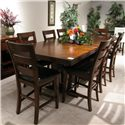 Holland House Layton Counter Table + 8 stools