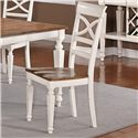 Holland House 1271 Dining Armless Dining Side Chair with Turned Forelegs and Lattice Backrest - 1271-335-S