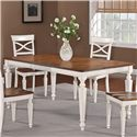 Holland House 1271 Dining Rectangular Leg Dining Table with Turned Legs and 18