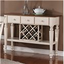 Holland House 1271 Dining Sideboard with Veneer Top and Built-in Wine Rack