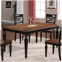 Holland House 1272 Dining Rectangular Leg Dining Table with Turned Legs and 18
