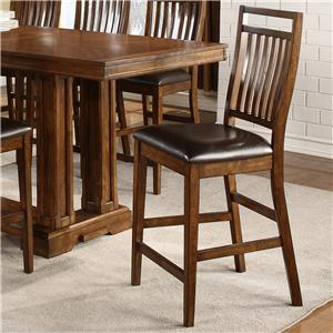 Holland House 1275 Casual Counter Height Chair with Seat Cushion