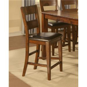 Holland House 1279 Counter Height Ladder Back Chair with Uphols