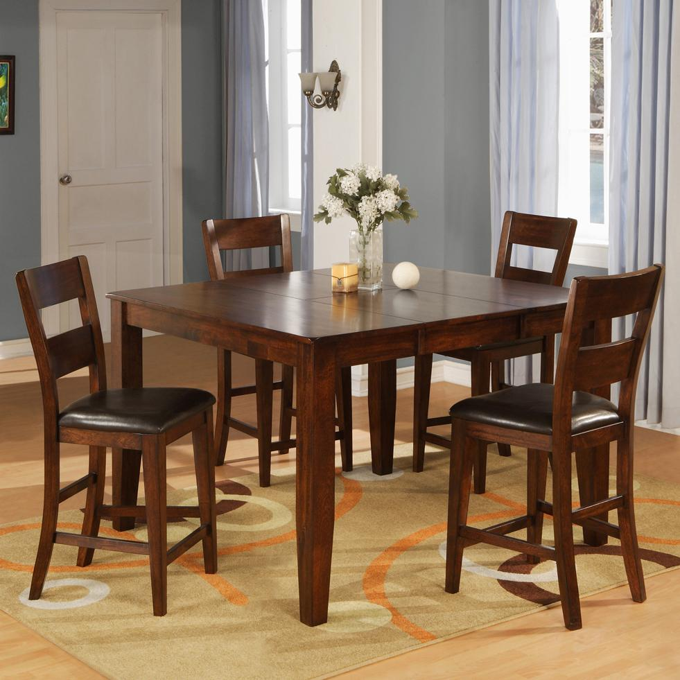 Counter Pub Table Set with 4 Bar Stools