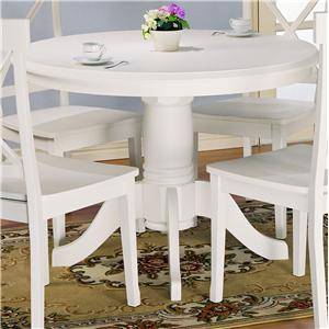 Holland House Round Pedestal Wooden Table Godby Home - White pedestal table with leaf