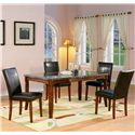 Holland House 1298 Marble Top Leg Table - 1298-3866L - Leg Table Shown with Side Parson Chairs