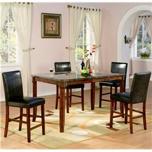 Holland House 1298 5 Piece Counter Height Table and Stool Set