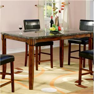 Holland House 1298 Marble Top Counter Height Leg Table