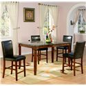 Holland House 1298 Marble Top Counter Height Leg Table - Pub Leg Table Shown with Stools