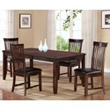 Holland House 19003 5-Piece Dining Table Set - Item Number: 19003-4078+4x353-S