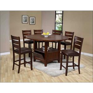 Holland House 1920 Casual 7 Piece Counter Table and Chair Set
