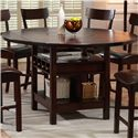 Holland House Cory Table + 4 Stools  - Pub Table with Lazy Susan