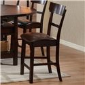 Holland House Cory Table + 4 Stools  - Upholstered Pub Stool