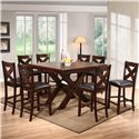 Holland House 1950 Dining Extension Counter Height Table & Chair Set