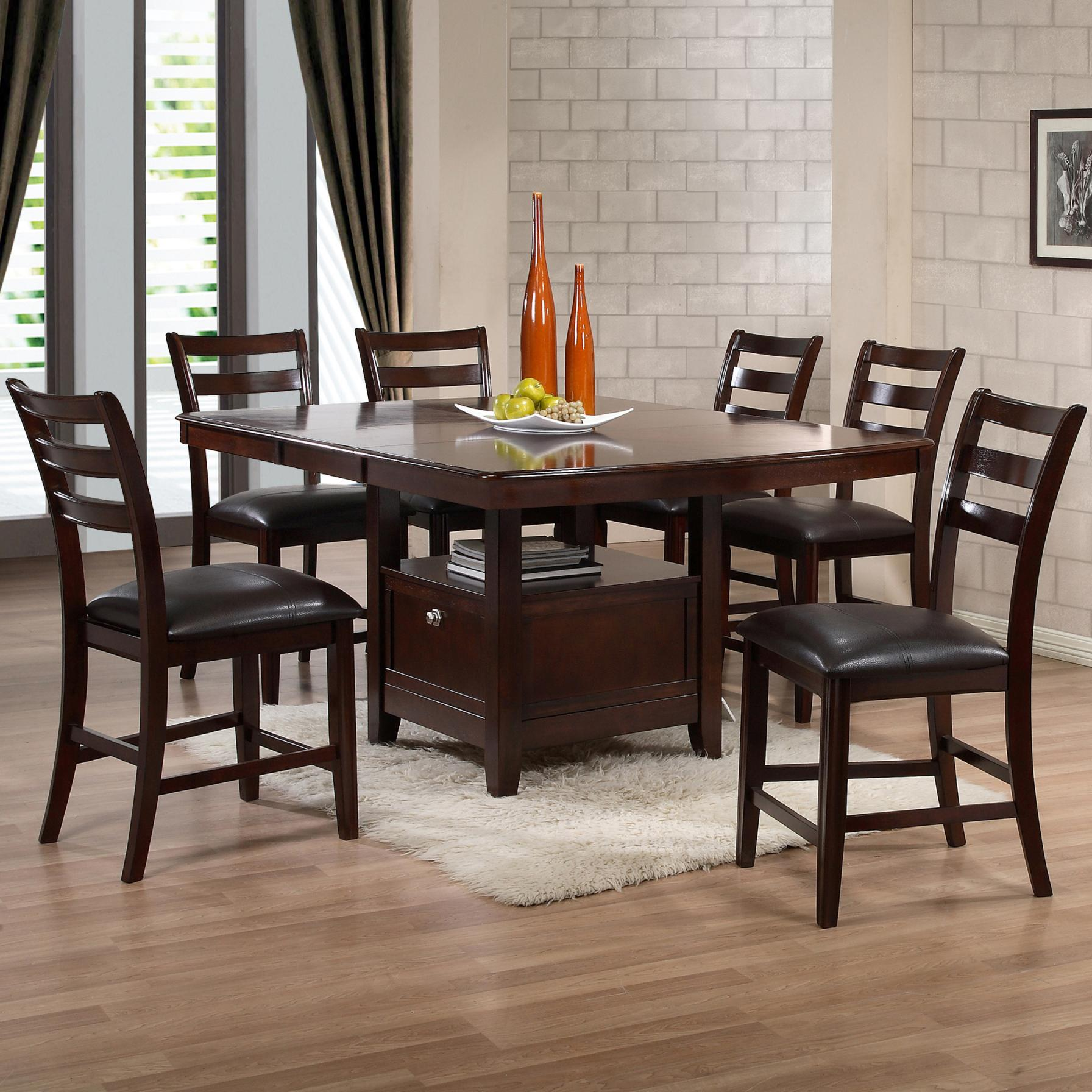 7 Piece Counter Table Dining Set