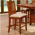 Holland House Brown Mission Dining Upholstered Pub Stool