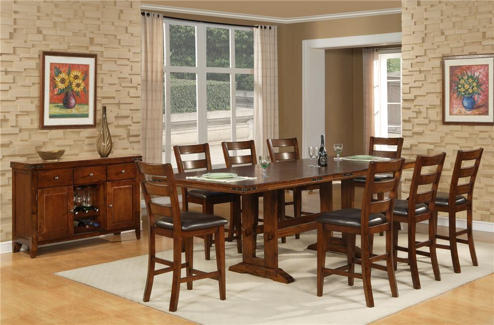 Morris Home Furnishings Coventry Coventry 5 Piece Pub Dining Set - Item Number: 1268-TPB44108/1268-CPB611(4)