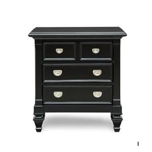 Holland House Black Nightstand