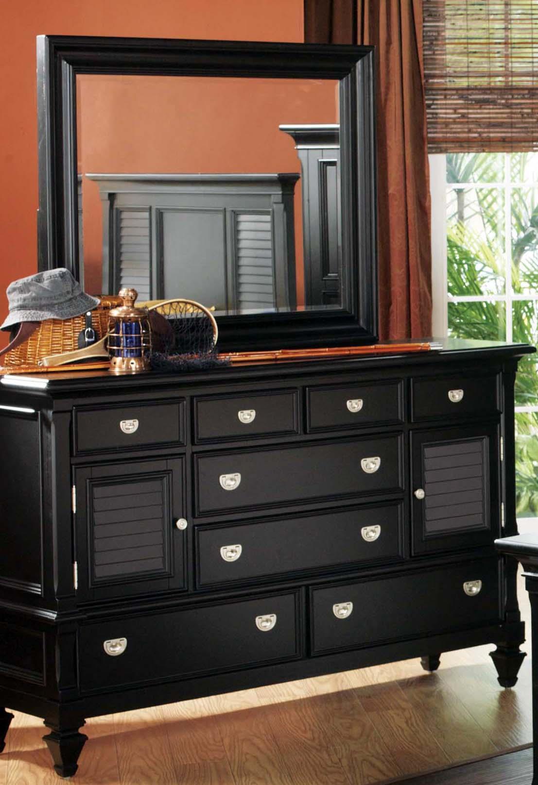 Holland House Black Dresser/Mirror - Item Number: P24987