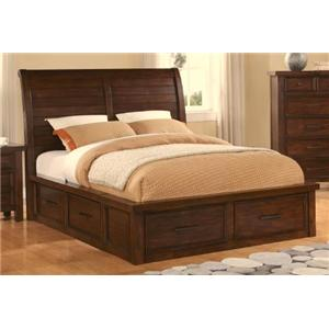 Holland House 2678 Sonoma Kg Sleigh Bed with Storage