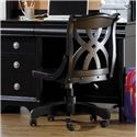Holland House Petite Louis 2 Black Office Desk Chair with Casters - 457-40