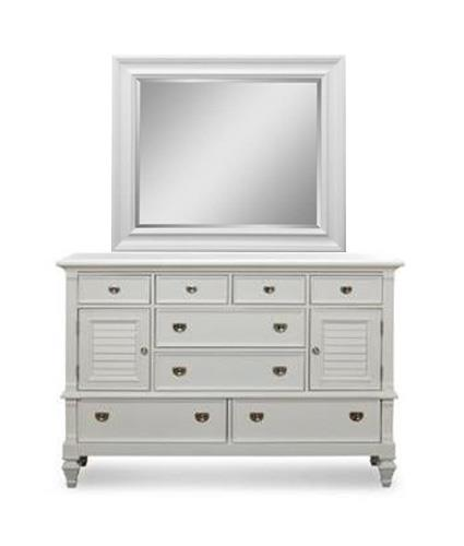 Holland House White Dresser/MIrror - Item Number: P49700