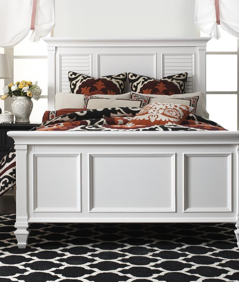 Holland House White King Bed - Item Number: P49703