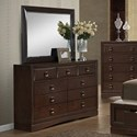 Holland House Franklin Dresser & Mirror - Item Number: 5516-110+510