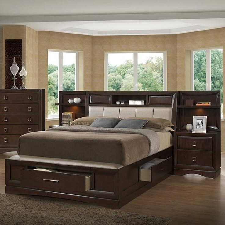 Holland House Franklin Queen Bookcase Bed With 2 Night Stands Piers Royal Furniture Bookcase