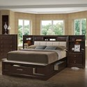 Holland House Franklin Queen Bookcase Bed with 2 Night Stands/Piers - Item Number: 5516-315+316+936+84+2x410+2x35
